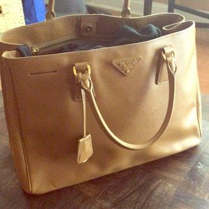 Prada Lux Open Tote, brown in color, like new